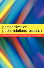Cover of: Perspectives on Public Relations Research