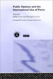 Cover of: Public opinion and the international use of force