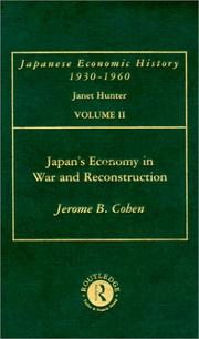 Cover of: Japan's Economy in War and Reconstruction
