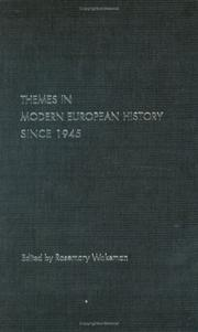Cover of: Themes in European History Since 1945 (Themes in Modern Europeanhistory)