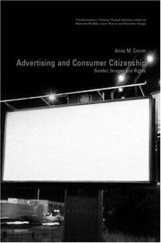 Cover of: Advertising and Consumer Citizenship | Anne M. Cronin