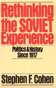 Cover of: Rethinking the Soviet Experience