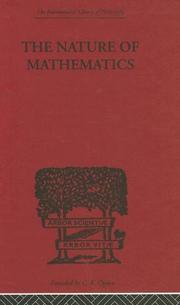 The nature of mathematics by Max Black