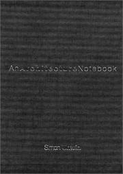 An Architecture Notebook by Simon Unwin