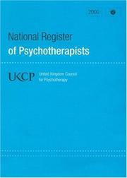 Cover of: National Register of Psychotherapist2000