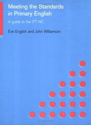 Cover of: Meeting the standards in primary English |