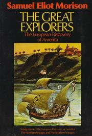 Cover of: The Great Explorers: the European discovery of America