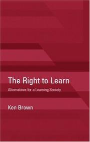 Cover of: Right to Learn | Ken Brown