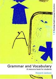 Cover of: Grammar and Vocabulary | Howard Jackson