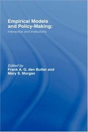 Cover of: Empirical models and Policy Making