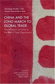 Cover of: China and the Long March to Global Trade | A. Alexandroff