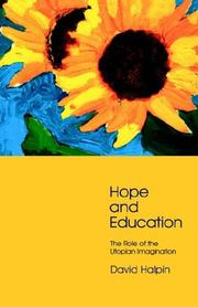 Cover of: Hope and Education