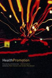 Cover of: Health Promotion | Robin Bunton