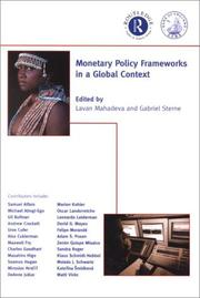 Cover of: Monetary Policy Frameworks in a Global Context