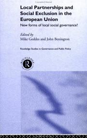 Cover of: Local Partnership and Social Exclusion in the European Union | Mike Geddes