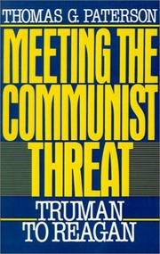 Cover of: Meeting the Communist Threat