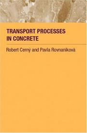Cover of: Transport processes in concrete | Robert CМЊernyМЃ