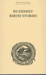 Cover of: Buddhist Birth Stories | T.W. Rhy Davids