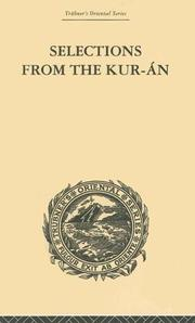 Cover of: Selections from the Kuran