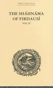 Cover of: The Shahnama of Firdausi | Arthur G Warner
