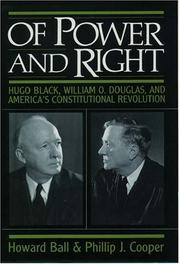 Cover of: Of power and right | Howard Ball