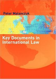 Cover of: Key Documents in International Law