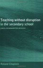 Cover of: Teaching without disruption