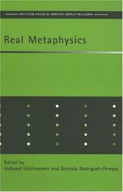 Cover of: Real metaphysics |