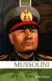 Cover of: Mussolini