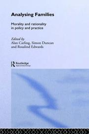 Cover of: Analysing Families
