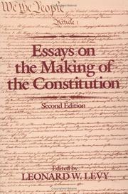 the making of the constitution essay Performative acts and gender constitution: an essay in phenomenology  in  the course of making my argument, i will draw from theatrical, anthropological.