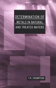 Cover of: Determination of metals in natural and treated waters