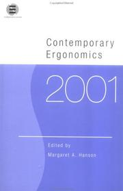 Cover of: Contemporary Ergonomics 2001 (Contemporary Ergonomics)