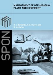 Cover of: Management of Off-highway Plant and Equipment