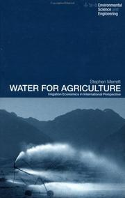 Cover of: Water for Agriculture