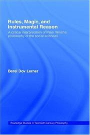 Cover of: Rules, Magic and Instrumental Reason