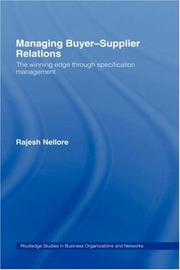 Cover of: Managing Buyer-Supplier Relations