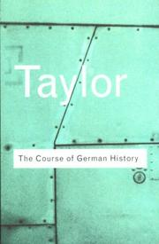 Cover of: The course of German history: a survey of the development of Germany since 1815.