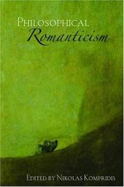 Cover of: Philosophical Romanticism