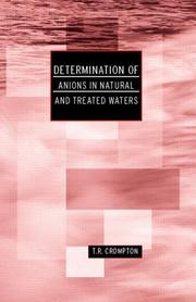 Cover of: Determination of anions in natural and treated waters