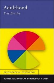 Cover of: Adulthood (Routledge Modular Psychology) | Evie Bentley