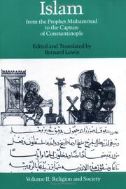 Cover of: Islam: From the Prophet Muhammad to the Capture of Constantinople Volume 2