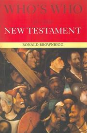 Who's Who in the New Testament (Who's Who) by Canon Brownrigg