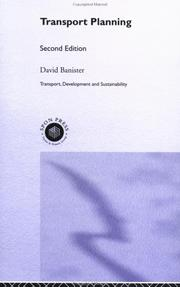 Cover of: Transport Planning (Transport Development and Sustainability) | David Banister