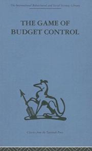 Cover of: The Game of Budget Control