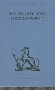 Cover of: Sociology and Development