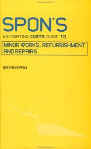 Cover of: Spon's estimating costs guide to minor works, alterations, and repair