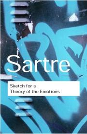 Cover of: Sketch for a Theory of the Emotions
