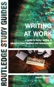 Cover of: Writing at Work