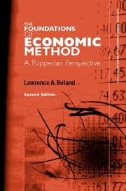 Cover of: The foundations of economic method